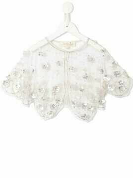 Tutu Du Monde Mykonos beaded cropped cape - Pink