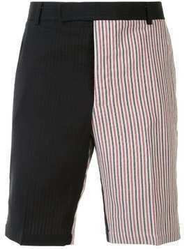 Thom Browne NAVY DOUBLE FACE STIFF CREPE CHINO SHORT - Blue