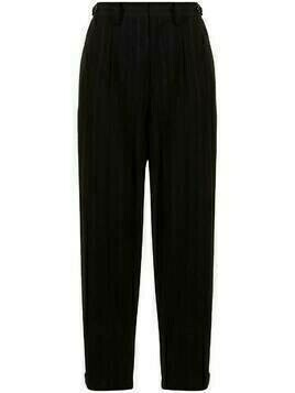 Y's high-waisted cropped trousers - Black