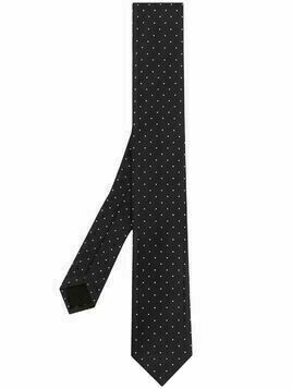 BOSS polka dot print tie - Blue