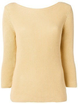 Gentry Portofino ribbed knit sweater - Yellow