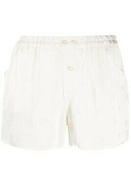 Laneus high-waisted star print shorts - Neutrals