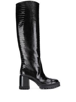 Casadei Funky embossed boots - Black