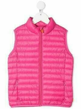 Save The Duck Kids classic padded waistcoat - Pink