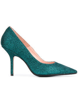 Anna F. glitter stiletto pumps - Blue