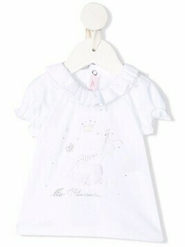 Miss Blumarine teddy bear-embroidered T-shirt - White