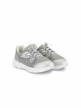 Sophia Webster Mini Chiara butterfly sneakers - SILVER