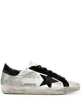 Golden Goose Super-Star leather sneakers - Silver
