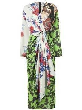 Act N°1 floral wrap dress - Green