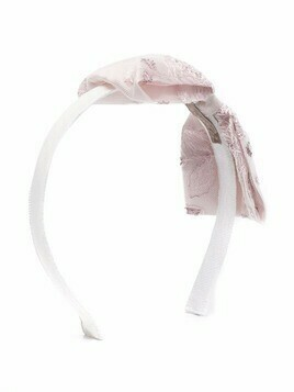 La Stupenderia bow-detail hairband - White