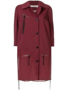 Yang Li oversized midi coat - Red
