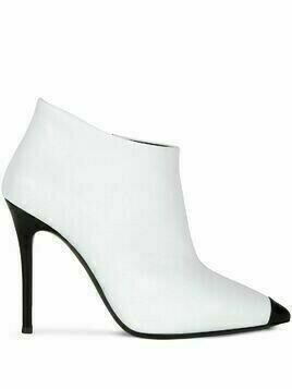 Giuseppe Zanotti pointed leather ankle boots - White