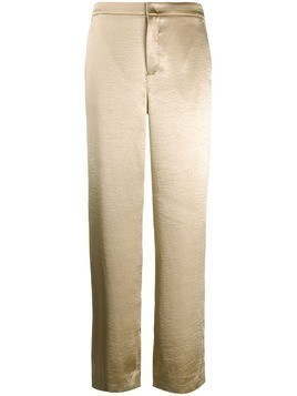 Vince metallic wide leg trousers - GOLD