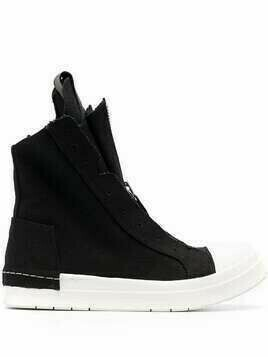 Cinzia Araia high-top zip-front sneakers - Black