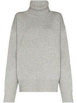 extreme cashmere roll neck knit jumper - Grey