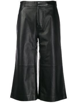 Frame cropped wide leg trousers - Black