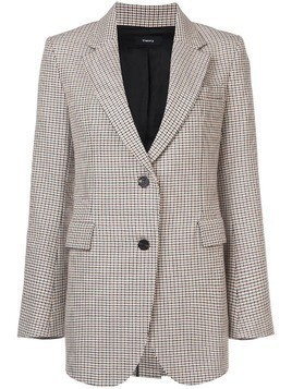 Theory single-breasted checked blazer - Multicolour