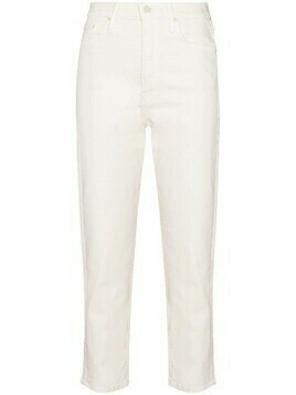 MOTHER straight-leg cropped jeans - White