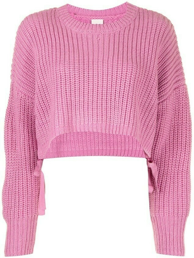 Cinq A Sept ribbed cropped jumper - PINK