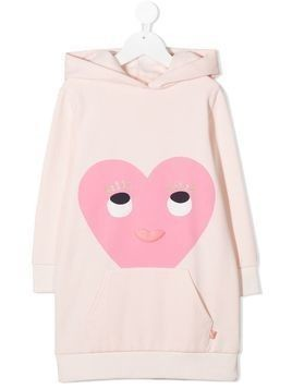 Billieblush heart-print hooded dress - PINK