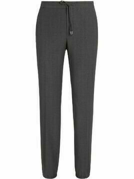 Z Zegna drawstring wool tapered trousers - Grey