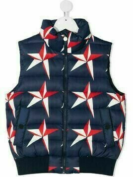 Perfect Moment Kids star-print quilted gilet - Blue