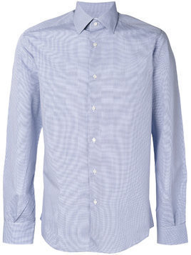 Fashion Clinic Timeless micro check classic shirt - Blue
