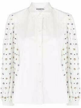 Essentiel Antwerp floral-embellished blouse - White