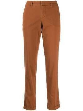Fay slim-fit chino trousers - Brown