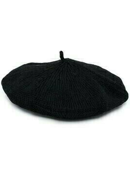 Y's crochet-detail beret - Black