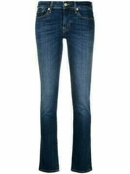 7 For All Mankind mid-rise faded jeans - Blue