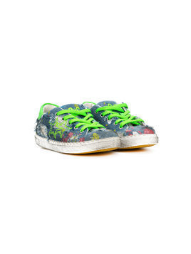 2 Star Kids printed distressed sneakers - Blue