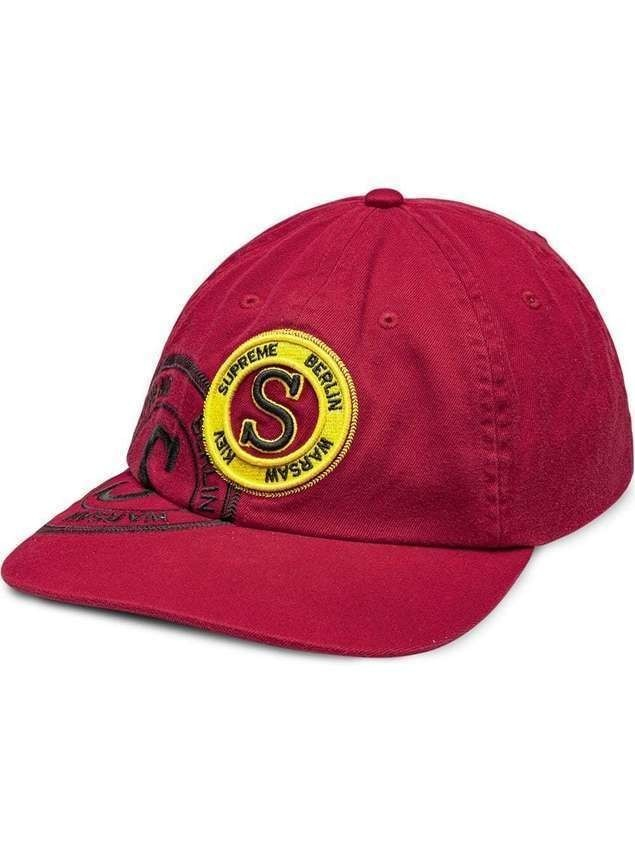 Supreme stamp 6-panel cap - Red