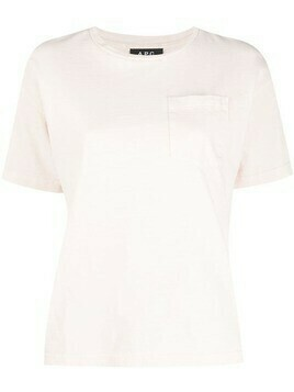 A.P.C. Hope chest-pocket T-shirt - Pink