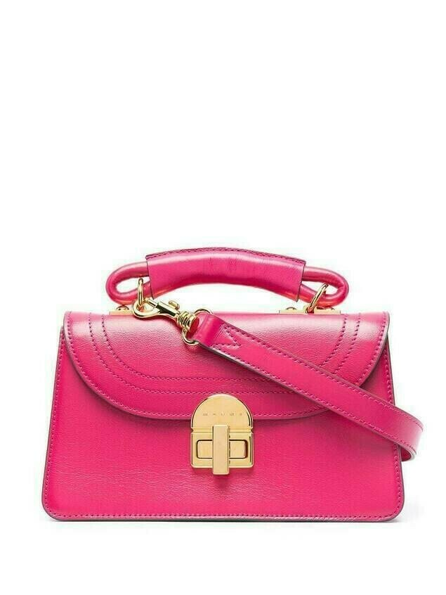 Marni twist-lock tote bag - PINK