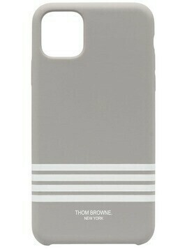 Thom Browne 4-Bar print iPhone 11 Pro Max case - 035 MED GREY