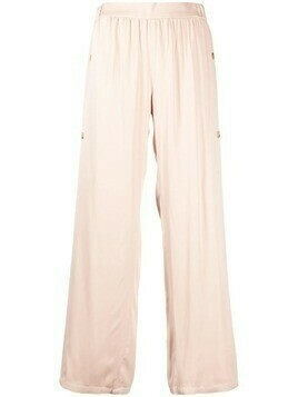 Aeron side-buttoned gathered trousers - Neutrals