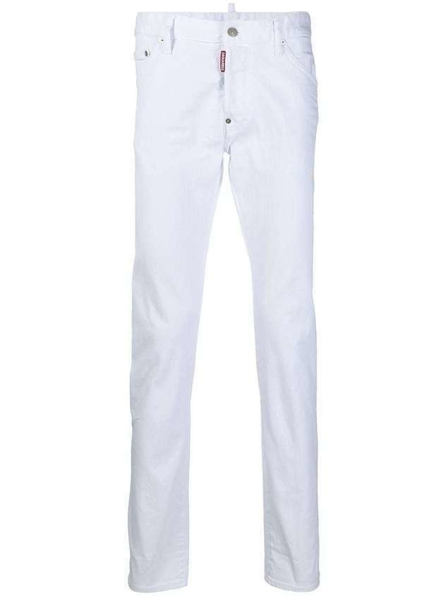 Dsquared2 mid-rise straight-leg jeans - White