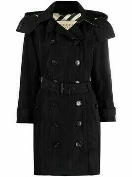 Burberry Pre-Owned double-breasted trench coat - Black