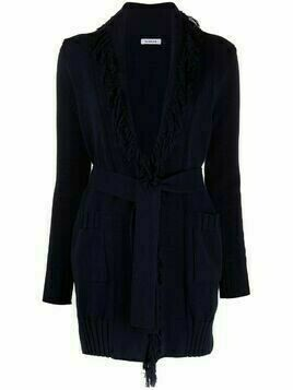 P.A.R.O.S.H. frayed-edge cotton cardigan - Blue