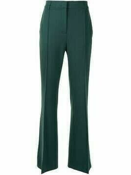 Dorothee Schumacher pressed-crease flared trousers - Green