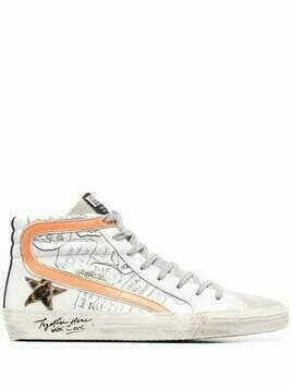 Golden Goose Slide hi-top sneakers - White