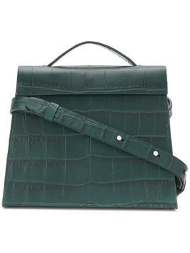 Aesther Ekme Mini Barrel embossed crossbody bag - Green