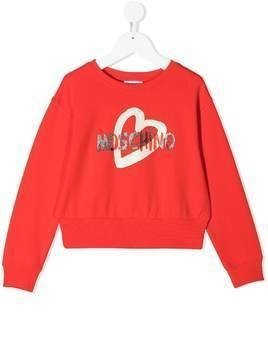 Moschino Kids logo print sweatshirt - Red