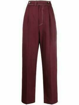 Aeron Vemeer high-waisted trousers - Red