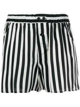 Laneus elasticated stripe-print shorts - Black