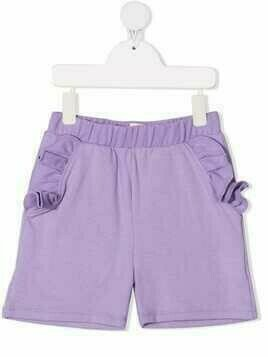 WAUW CAPOW by BANGBANG ruffle-trimmed shorts - PURPLE