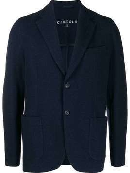 Circolo 1901 single breasted knitted blazer - Blue