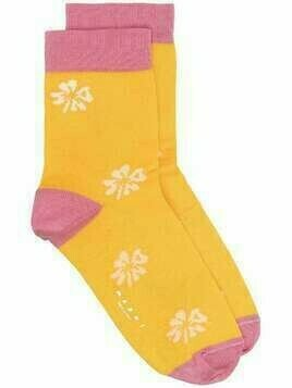 Marni floral-pattern ankle socks - Yellow