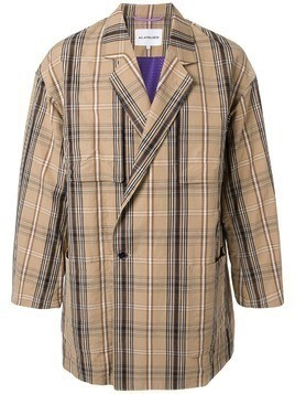 A(Lefrude)E tartan jacket - Brown